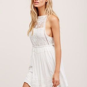 Free People - Emily Crochet Mini Dress